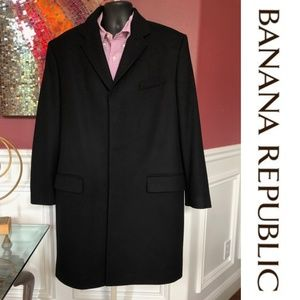 NEW Banana Republic Mens Wool Overcoat Topcoat